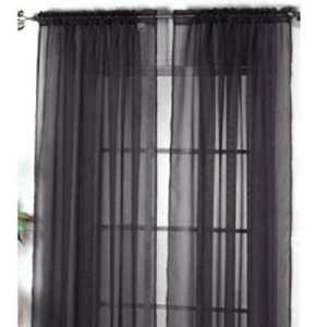 JuneJour Rideaux Translucide en Couleur Pure Décoration de Windows Voilages Intérieurs Rideau Décoration de Fenêtres