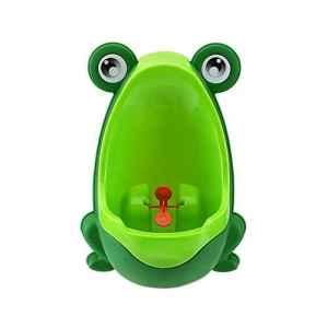 VIPMOON Colorful Frog Boys Urinoir de formation de pot avec cible tourbillonnaire – Utilisez un urinoir de bébé, rendez-vous amusant, stress facile Gratuit pour le pot – Vert
