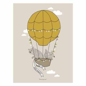 Bloom ingville Poster Ballon, marron