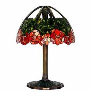 C&L Lampe de table en couture en verre, rétro Pure Copper Chambre à coucher Lampe de chevet Bureau d'étude Villa Salle de séjour Couleur Verre Décoration Lampe de table 8 tête E14, interrupteur à bouton de 25 * 37 cm ( taille : 53*80cm )