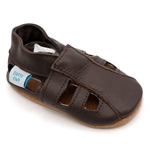 Chaussures Garçons Et Dotty – Fish Cuir Filles Bébé Bambin Souple CBedrox