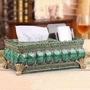 Tissue Box Boîte à mouchoirs rectangulaire salon chambre mignonne résine tissu boîte carton de pompage ( Couleur : A )