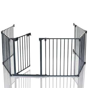 Lcp Kids Barrière De Sécurité Enfant Grille Protection Cheminée Feux Parc Bebe Pliable, Variant: 5 Panel +1 Porte