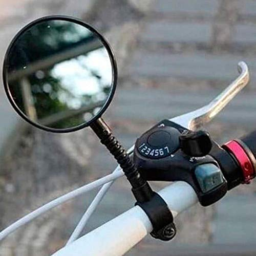 YGQersh R/étroviseur Guidon,Road Mountain Bike Cycling R/églable V/élo Guidon Plug R/étroviseur v/élo Noir