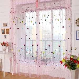 Sankt Sheer Panneau de rideau Tige de poche en-têtes Impression Motif fenêtre Draperies Drapes pour chambre à coucher, salon, 99,1cm W * 200,7cm Lï ¼ Œ1Panneau, rose, 39*79inch
