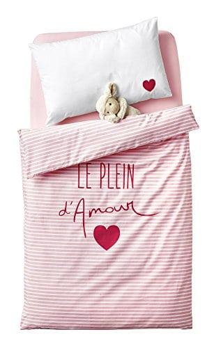Housse De Couette Bebe 80x120.Vertbaudet Housse De Couette Bebe Le Plein D Amour Rose
