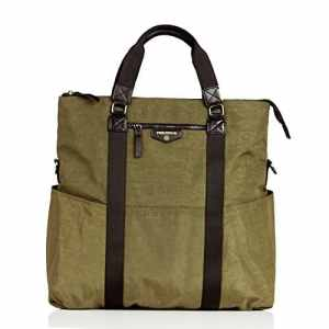 twelvelittle Unisexe 3-in-1 Fold over Tote, Olive by twelvelittle