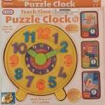 Teach Time Puzzle Clock