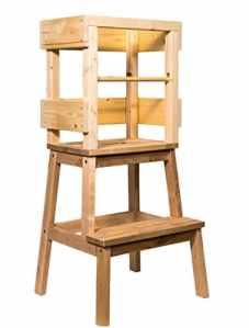 Tour d'apprentissage by deski Tour avec supplémentaire rausfallsc hutz Barre de Chasse et déjà montée, Learning Tower learningtower Tower höhung les portiers d'apprentissage Chaise main Montessori