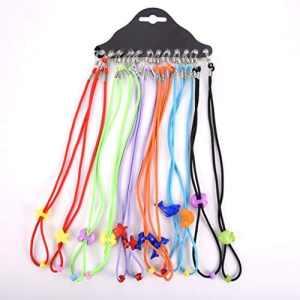 12pcs réglable enfants en nylon Lunettes élastique pour ceinture Lunettes Cord Enfants Lunettes de cou pour lunettes corde cordon de chaîne