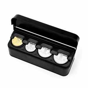 Alextry l'stockage Automatique de l'organisateur de la Monnaie de l'euro 2018Contient Les gélules automatiques de la boîte de Monnaie du Support de la Bourse des Monnaies