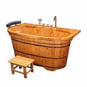 Baignoire Baignoire Baignoire Baignoire Cèdre Sauna Adulte Hôtel Spa,Couleur Bois,XL