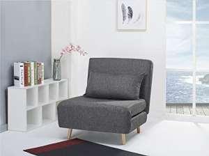 fauteuil convertible chauffeuse convertible gris tissu)