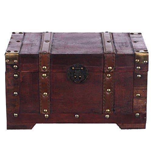 Generic * E Coffre STO Chic en Bois RE Coffre S Box Nautique Coffre au trésor Coffre au trésor de Stockage Ox Nautique Décoration Périclès Robe en métal AL Décoration
