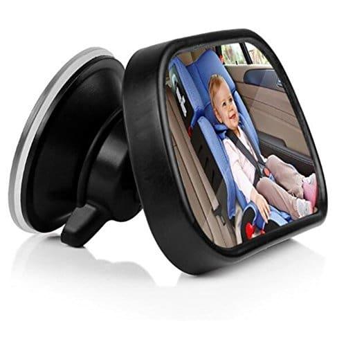 Autocollants bébé à bord 2 en 1 Retroviseur De Surveillance Réglable avec Ventouse et Clip Miroir de Voiture pour Bébé avec Incassable Sécurité Surface Convient à Toute Voiture KOBWA Bébé Vue Arrière Miroir Cadeaux et produits dérivés
