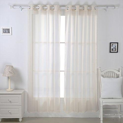 Deconovo Lot De 2 Voilage Chambre Pour Porte Fenetre Decoration