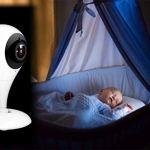 JUN GUANG Moniteur de bébé audionumérique Smart Baby Monitor HD WiFi sans Fil-Batterie et Secteur-Blanc