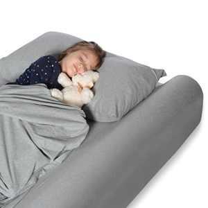 Milliard Pare-chocs de lit, garde-corps de sécurité en mousse avec housse antidérapante, imperméable et lavable; armature de lit pour les tout-petits, les enfants, les adultes et les personnes âgées