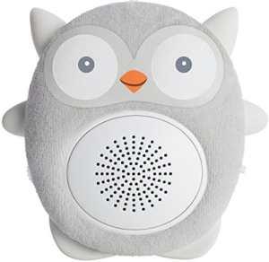 SoundBub de WavHello Haut-Parleur Relaxant pour le Sommeil de Bébé | Diffuseur de Bruit Blanc Bluetooth | Compagnon Idéal pour le Repos du Nouveau-Né | Portable, Rechargeable | Ollie le Hibou, Gris