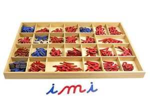 baoblaze Alphabet Meuble lettres Boîte de bois jouet éducatif Montessori pour enfants