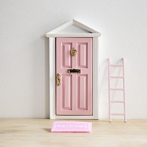 La petite souris: Porte Magique Rose + petite clef + Carte de voeux+ Coloriage + petit paillasson+ moule pour les empruntes + petit escalier / decoration chambre fille et garçon