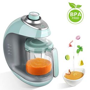 Robot culinaire MaxKare pour bébé avec cuiseur vapeur 5 en 1 pour bébé et mélangeur avec cuisson à la vapeur, mélange, décongélation et chauffage Robot multifonction, minuterie intégrée, sans BPA