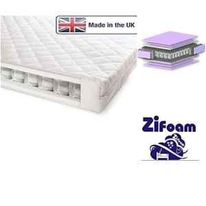 ZI Matelas lit pour bébé en mousse -160X 70x 10cm et 160x 80x 11cm- Junior Lit à ressorts ensachés avec mousse haute densité de qualité de fabrication britannique