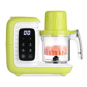 zanmini robot cuiseur 5 en 1 vapeur multifonctionnel mixeur bébé babyfood avec 2 paniers (vert)