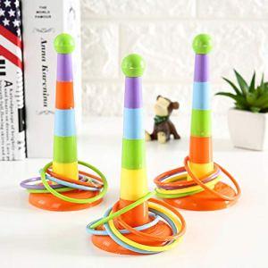 0Miaxudh Toss Bague en Forme de Toy pour Enfant Motif Cercles séparables