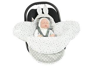 EliMeli Baby Couverture Couverture Couverture universelle pour nacelle, siège auto, poussette et lit bébé, très haute qualité, couverture Minky