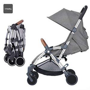 Star iBaby–chaise de Promenade Air +, inclinable avec barre de sécurité, Couleur Gris