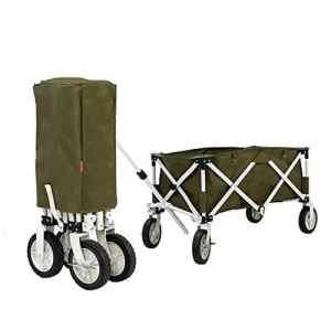 ZY Camping Car Pliable avec Roues Camping extérieur Pliant de Camping Grande capacité de Stockage avec Sangles Voiture de Camping