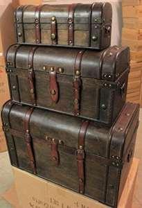 Generic Stockage Irate B Trunk Tru Coffre à trésor en Bois Ift Pirate de Stockage Cadeau Reasure Coffre Pirate Boîte au trésor