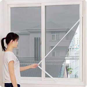 LIMITA Maille de rideau d'écran insecte d'intérieur Moustiquaire moustiquaire fenêtre (Gris)