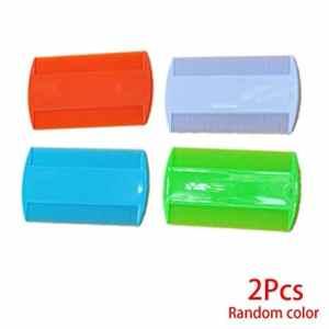 Morza 2PCS Plastique Pure Color Dents Fines Poux puces pour Animaux Peignes Double Face Nit Enfants