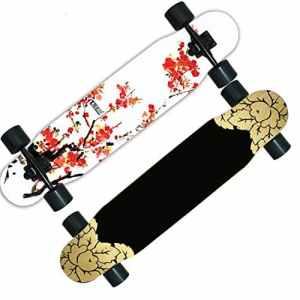 Skateboard SkaterTrainer Planche de danse / skateboard route garçons / scooter adulte / la longue brosse de piste de danse à deux roues Street ou adultes enfants débutants filles garçons ( Color : M )