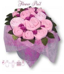 Flower Stork Sugar Pink Flower Pail, Gift Sets BabyGirl, Baby girl, 3-6 months