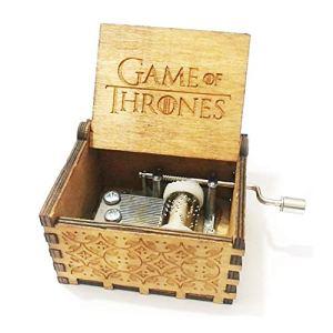 OMGXS Premier Boîte à musique,Game Of Thrones gravé en bois Boîte décorative cadeaux de Noël