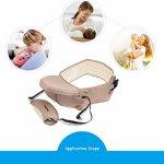 Porte-bébé Ergonomique pour Bébé avec Dessin de la éponge Super Douce Epaissi Jusqu'à 25 kg, Circonférence Vie 115 – 65 cm (Kaki Foncé)