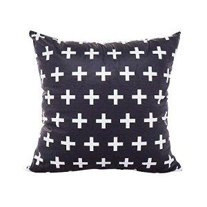Viewk Amovible et Lavable Couverture de Coussin de taie d'oreiller de Festival de Toile de Coton de lit de Coton de canape