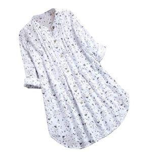 Viewk Cadeau fête des mères T-Shirt en Mousseline à Manches Longues et à Manches Longues pour Femmes