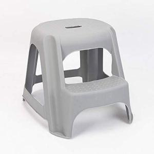 Wanlianer Tabouret en Plastique Multifonctionnel pour Enfants Step Booster de Salle de Bains pour Enfants (Couleur : Gris)