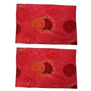Cotton Blend Flower Motif Oreiller Case 72cm Coussin de couverture x 47cm 2pcs