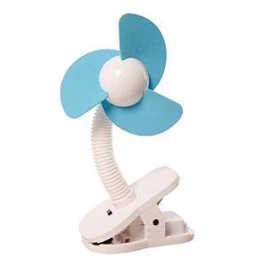 DREAMBABYTM Stroller Fan – Ventilateur à Clipser de Poussette (Couleur: Blanc / Bleu)