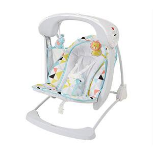 Chaise à bascule bébé 2 en 1 balançoire électrique portable chaise à bascule bébé inclinable confort bébé