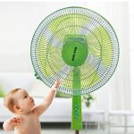 Children Finger Guard Mesh Fan Cover Protect Baby Safety Cover Dust CoverBlue blue