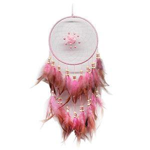 DC CLOUD Dream Catcher Net Dreamcatcher Cadeau d'anniversaire pour Enfants Jardin Perles Bébé Petit Rêve Boho Capteurs De Rêves Catcher Pink