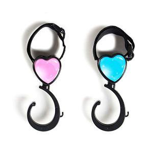 en forme de coeur Crochet Dessin animé Poussette Crochet rotatif à 360° Crochet de poussette pour bébé fauteuils roulants (couleur aléatoire) 1paire