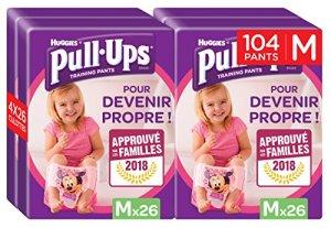 Huggies Pull-Ups Disney Pack de 104 Couches Culottes Bébé Fille pour Apprendre à Devenir Propre Taille M 5