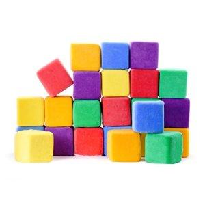 Milliard – Blocs en Mousse Souple – très Grande Taille – avec Housses Amovibles/Sac de Transport – pour empiler/Trier/Construire – 24 Cubes de 10 cm